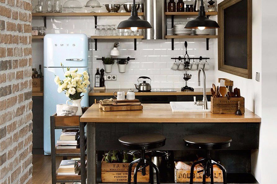 15 Desain Dapur Kecil Cantik Bikin