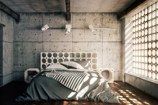 13 Desain Interior Kamar Tidur Ala Industrial